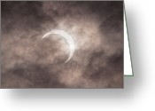 Solar Eclipse Greeting Cards - Solar Eclipse Greeting Card by Margarita Komine
