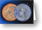 Romantic Pastels Greeting Cards - Solar Eclipse Greeting Card by Sue Halstenberg