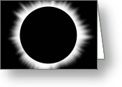 Corona Greeting Cards - Solar Eclipse With Corona Greeting Card by Don Farrall