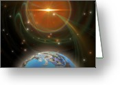 Portal Greeting Cards - Solar Message Greeting Card by Corey Ford