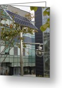 Environment-friendly Greeting Cards - Solar-powered Street Light In Daejeon Greeting Card by Mark Williamson