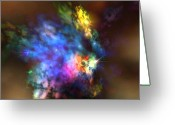 Flares Greeting Cards - Solaris Nebula Greeting Card by Corey Ford