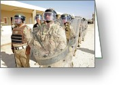 Iraqi Military Greeting Cards - Soldiers From The 7th Iraqi Army Greeting Card by Stocktrek Images