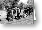 Confederates Greeting Cards - Soldiers March Black and White II Greeting Card by LeeAnn McLaneGoetz McLaneGoetzStudioLLCcom