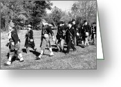 Confederates Greeting Cards - Soldiers March Black and White iii Greeting Card by LeeAnn McLaneGoetz McLaneGoetzStudioLLCcom