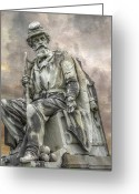 Regiment Greeting Cards - Soldiers National Monument War Statue Gettysburg Cemetery  Greeting Card by Randy Steele