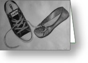 All Star Drawings Greeting Cards - Sole Mates Greeting Card by Joanna Aud