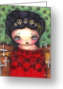 Mexican Greeting Cards - Soledad Greeting Card by  Abril Andrade Griffith