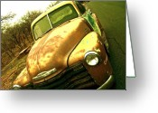 Redneck Rock Greeting Cards - Solid Gold Clunker Greeting Card by Chuck Taylor