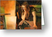 Dreadlocks Greeting Cards - Soliliquy Greeting Card by Sue  Darius