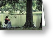 Invalid Greeting Cards - Solitude and the Lonely Heart Greeting Card by Carl Purcell