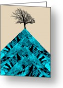 Vertical Abstract Greeting Cards - Solitude Greeting Card by Ann Powell