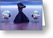 3d Digital Art Greeting Cards - Solitude by Choice Greeting Card by Douglas Barnard
