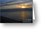 Ocean Front Greeting Cards - Solitude Greeting Card by Gerlinde Keating - Keating Associates Inc