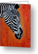Stripe.paint Greeting Cards - Solitude in Stripes Greeting Card by Iosua Tai Taeoalii