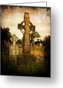 Cemetery Greeting Cards - Solitude Greeting Card by Leah Moore