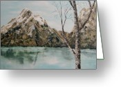 Clouds Reliefs Greeting Cards - Solitude Greeting Card by Terry Honstead