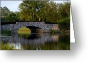 Huisken Greeting Cards - Solivita Stone Bridge Greeting Card by Lyle  Huisken