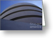 Guggenheim Museum Greeting Cards - Solomon R. Guggenheim Museum Greeting Card by David Bearden