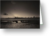 Galloway Greeting Cards - Solway Sunrise Greeting Card by Andy Astbury