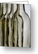 Somber Greeting Cards - Somber Bottles Greeting Card by Joe Bonita