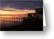 Jensen Beach Greeting Cards - Some Golden Daybreak Greeting Card by Joyce L Kimble
