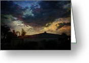 Cloudscape Greeting Cards - Some Kind of Madness Greeting Card by Laurie Search