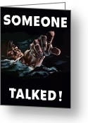States Digital Art Greeting Cards - Someone Talked Greeting Card by War Is Hell Store