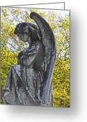 Graveyards Greeting Cards - Someone to Watch Over Me Greeting Card by Elizabeth Hoskinson