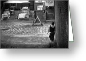 Cobblestone Street Greeting Cards - Something For Your Mind Greeting Card by Bob Orsillo