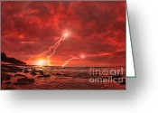 Strike Greeting Cards - Something Wicked Greeting Card by Paul Topp