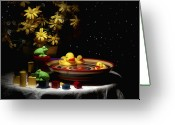 Whimsical Greeting Cards - Sometimes Late at Night Greeting Card by Tom Mc Nemar