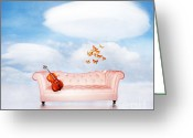 Surrealism Digital Art Greeting Cards - Sometimes...All I need Greeting Card by Photodream Art