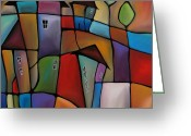 Abstract Music Greeting Cards - Somewhere Else - Abstract Pop Art by Fidostudio Greeting Card by Tom Fedro - Fidostudio