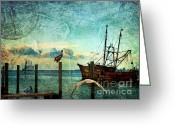 Lianne_schneider Fine Art Print Greeting Cards - Somewhere...beyond the sea Greeting Card by Lianne Schneider