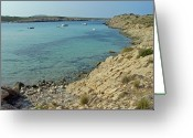 Seaside Greeting Cards - Son Parc Cove - Menorca Greeting Card by Rod Johnson