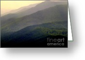 Mountain Ranges Greeting Cards - SONG of the HILLS Greeting Card by Karen Wiles