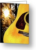 Acoustic Guitar Greeting Cards - Songs From The Wood Greeting Card by Bob Orsillo