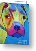 Friendly Pastels Greeting Cards - Sonny Blu Greeting Card by Melinda Etzold