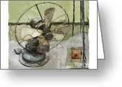 Antique Fan Greeting Cards - Sooo Cool  Greeting Card by Bob Salo