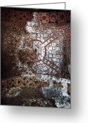 Aya Sofya Greeting Cards - Sophia Ceiling Mural Greeting Card by John Rizzuto