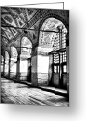 Aya Sofya Greeting Cards - Sophia Columns Greeting Card by John Rizzuto