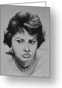 Loren Greeting Cards - Sophia Loren Greeting Card by Steve Hunter