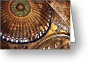 Aya Sofya Greeting Cards - Sophia Wonders Greeting Card by John Rizzuto