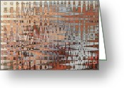 Interesting Art Greeting Cards - Sophisticated - Abstract Art Greeting Card by Carol Groenen