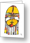 Metis Art Greeting Cards - Sorrow Greeting Card by Dan Daulby