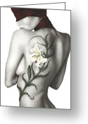 Lily Greeting Cards - Sorrow Greeting Card by Pat Erickson