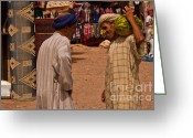 Moroccan Market Greeting Cards - Souk Greeting Card by Nabucodonosor Perez