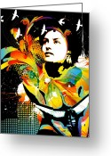 Mixed-media Greeting Cards - Soul Explosion II Greeting Card by Chris Andruskiewicz