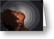 African American Artist Photo Greeting Cards - Soul Explosion Greeting Card by Jinnellys Laviera